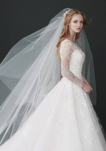 Plain tulle Cathedral Length Veil